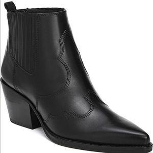 Sam Edelman Winona Bootie in Black Leather